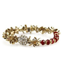 Von Trapp Bracelet: Red [DB1120] - $11.99 : Spotted Moth, Chic and sweet clothing and accessories for women