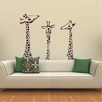 Giraffe Wall Decals - Giraffe Family Wall Stickers