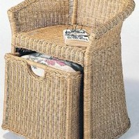 Amazon.com: Fran's Wicker Furniture Wicker Hamper Chair: Home & Kitchen
