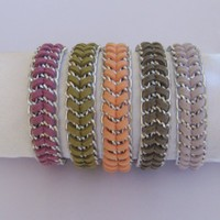 Fashion Braided Silver Chain Bracel.. on Luulla