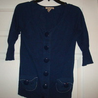 Sweet and Cute Navy Blue Forever 21 Cardigan Sz S