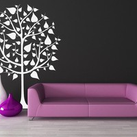 Tree with Heartish Shaped Leaves - Vinyl Decal