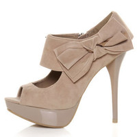Anne Michelle Dynamite 37 Taupe Cutout Peep Toe Pumps - $37.00