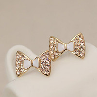 Bow Tie Lovley Golden Girls Ear Nails : Wholesaleclothing4u.com