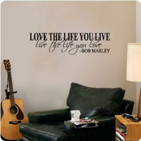 Amazon.com: Bob Marley Quote Wall Decal Decor Love Life Words Large Nice Sticker Text: Everything Else