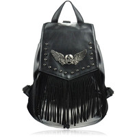 Skull Head And Wings Backpack on Luulla