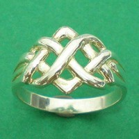 Irish Celtic Knot Infinity Eternity Ring One Band 925 Sterling Silv......