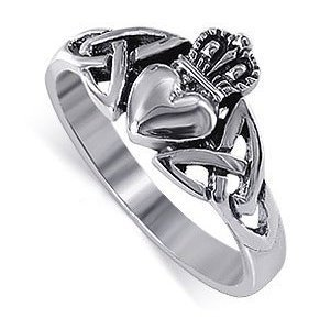 Amazon.com: LWRS043-4 Nickel Free .925 Sterling Silver Irish Claddagh Friendship and Love Band Polished Finished Ring Size 4, 5, 6, 7, 8, 9, 10, 11, 12, 13: Jewelry