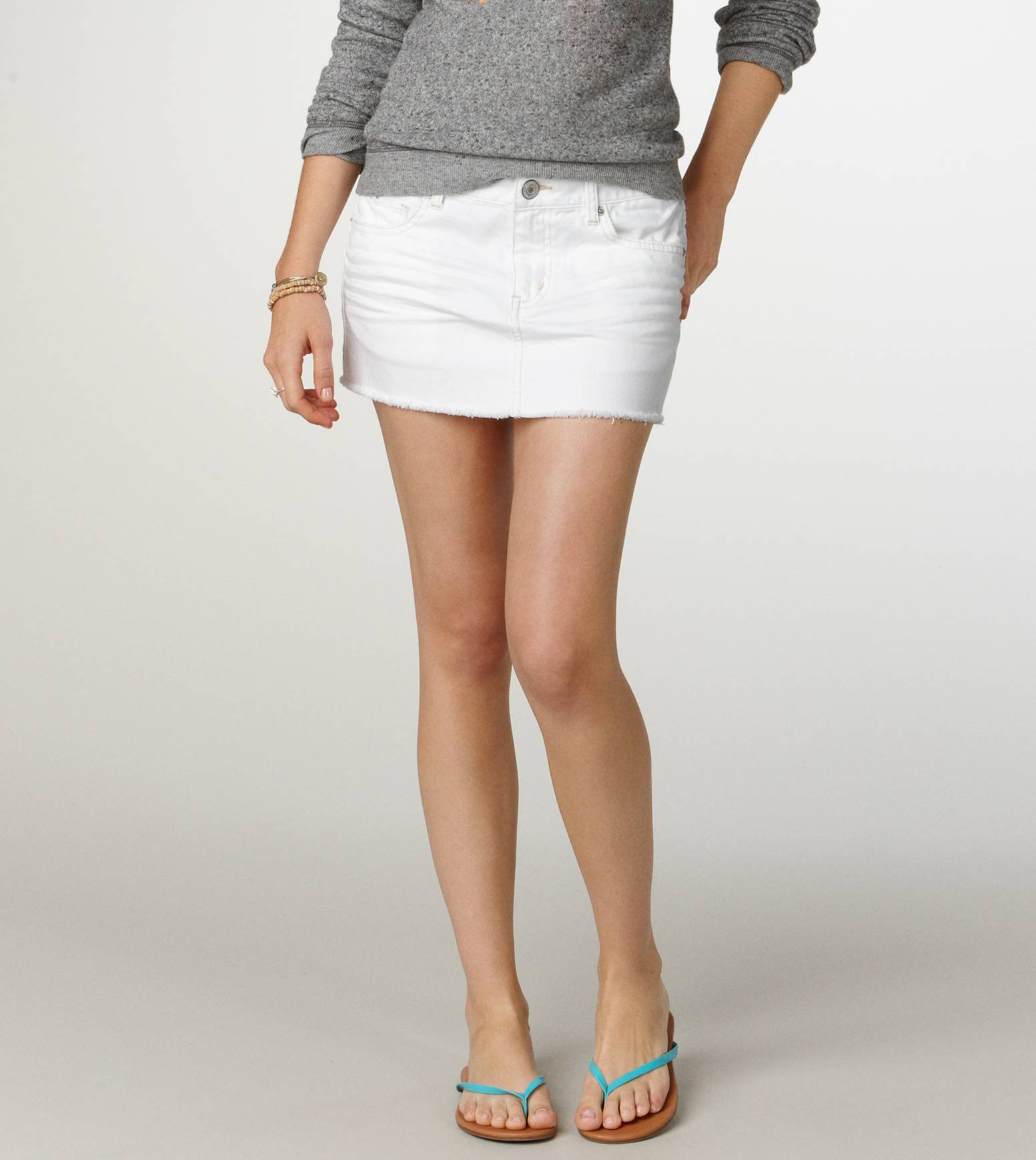White Jean Skirt - Jeans Am