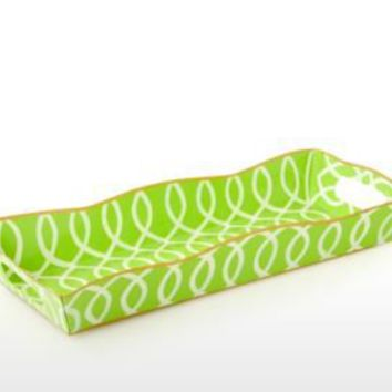 One Kings Lane - Jayes - Kate Rect. Vanity Tray, Green