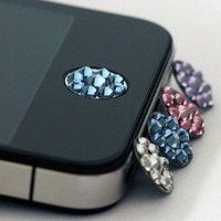 JisJass Collection - Amazon.com: one piece blue Bling Rhinestone iPhone Home Button Sticker in clear plastic bag: Cell Phones &amp; Accessories