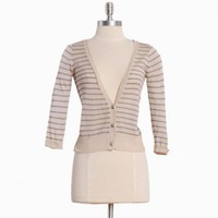 shy violet striped cardigan at ShopRuche.com, Vintage Inspired Clothing, Affordable Clothes, Eco friendly Fashion