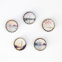 Photography Magnets, Set of 5 Washington DC Landmark Photos