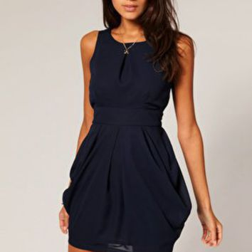 ASOS | ASOS Tulip Dress with Tie Back at ASOS