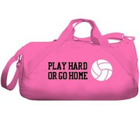 Play Hard Volleyball Bag: Custom Liberty Bags Barrel Duffel Bag