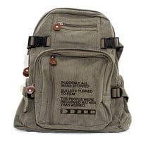 Backpack - Film v. Bullet - Small Backpack - Lightweight Canvas