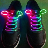 Athletic Children Ultra Bright LED Luminescent Shoelace Pink&amp;Green [#00300027] - US&amp;#36;4.10 : Amazplus.com