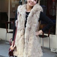 Delicate Juniors Fashion Apricot Vest Coats : Wholesaleclothing4u.com
