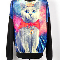 New Red Galaxy cat t shirts for womens korean fashion velvet long sleeve tee top