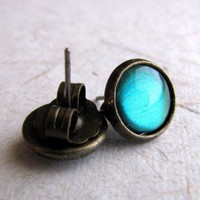 ShanaLogic.com - 100% Handmade & Independent Design! Absinthe Stud Earrings - i love her!