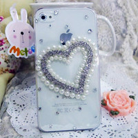 iPhone4G Heart Pearl Birthday Girlfriend Gift Case - GULLEITRUSTMART.COM