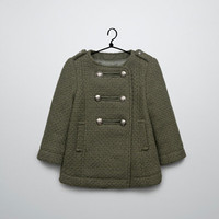 military 3/4 length coat - Coats - Baby girl (3-36 months) - Kids - ZARA United States