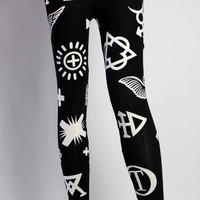 Symbol Leggings Black | Late Manta