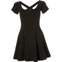 RVCA cross back black dress