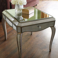 &quot;Claudia&quot; Mirrored End Table
