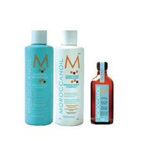 Moroccanoil Shampoo (8.5 oz), Conditioner (8.5 oz), and Oil Treatment (3.4 oz) Trio: Beauty
