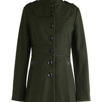 It's All Green to Me Coat | Mod Retro Vintage Coats | ModCloth.com
