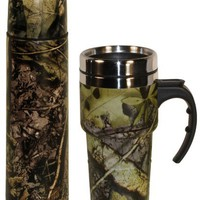 Subzero Travel Set 17oz Double Wall Flask and Travel Mug in Camo Print - Great Gift for Mom, Dad, o