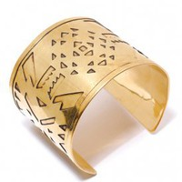 obey - women&#x27;s the horizon bracelet (antique gold) - obey | 80&#x27;s Purple