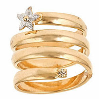 Spiral Star Adjustable Ring - Max and Chloe