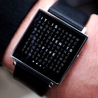Qlocktwo Watch by Biegert &amp; Funk