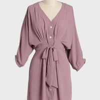demure darling shirt dress in lavender at ShopRuche.com