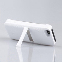 Apple IPHONE 5 Backup External Battery Cover Charger Case Stand 3200mAh White