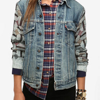 Urban Outfitters - Urban Renewal Sweater- Sleeve Denim Jacket