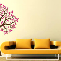 Tree wall decals, curly tree wall stickers : Dezign With a Z, adhesive tree wall appliques