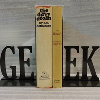 Geek Bookends by KnobCreekMetalArts on Etsy