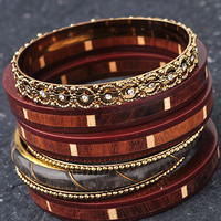 Brown Bangle Set from Monica's Closet Essentials