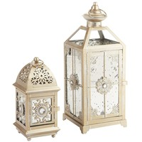 Champagne Jewel Antiqued Lanterns