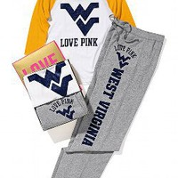 West Virginia University Baseball Tee Boyfriend Pant Gift Set - Victorias Secret PINK - Victoria&#x27;s Secret