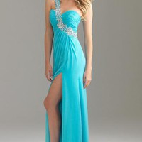 2012 Hot One Shoulder Paillette Long Ball Homecoming Prom Gown Evening Dresses
