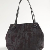 Slouchy Bag in Glacier Jacquard with Italian Leather Trim