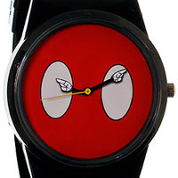 The Mickey Mouse Buttons Pantone Watch in Red & Black