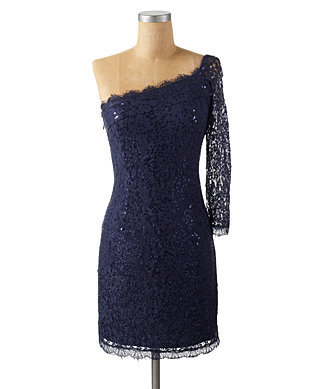 ASSYMETRICAL LACE DRESS - Short Dresses - DRESSES - Jessica Simpson Collection