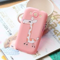 DCHK Lovely Pet Giraffe Cartoon Hard Case for Samsung Galaxy S3 i9300