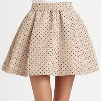 RED Valentino Polka Dots Faille Skirt