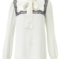 Off White Pussy Bow Blouse | Peter Som | Avenue32